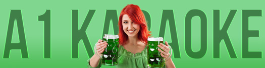 Girl Holding Two Green Beers